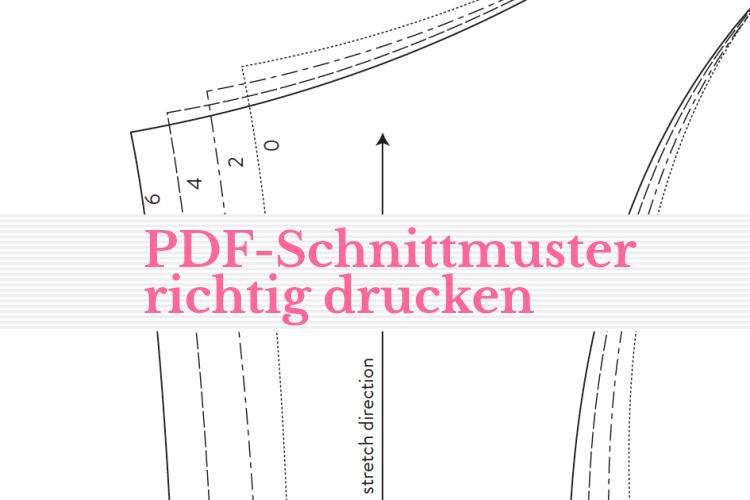 PDF Schnittmuster drucken, so geht es mit dem Downloadschnitt