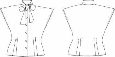 Pussy Bow Bluse Schnitt gratis zum selber nähen