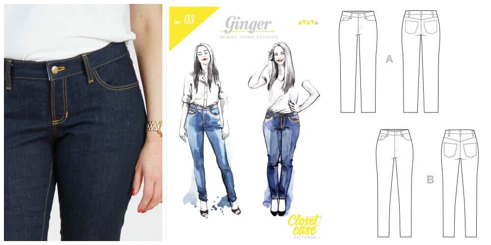 collage ginger jeans sew along #jeanssewalong2017