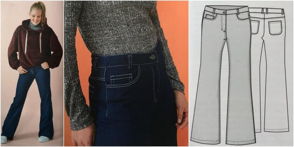 Wide Leg and High Rise Ottobre Schnittmuster Jeans