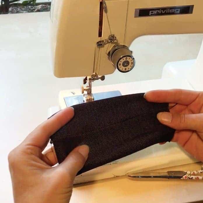 Elastische Stoffe wie Jersey mit der Nähmaschine nähen ohne Overlock