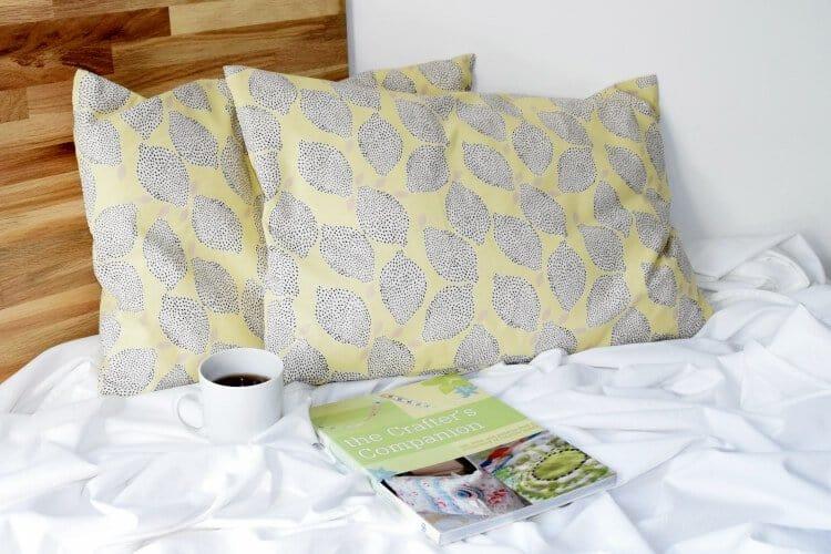 Einfaches Kissen mit Reissverschluss naehen Anleitung Tutorial für Anfaenger