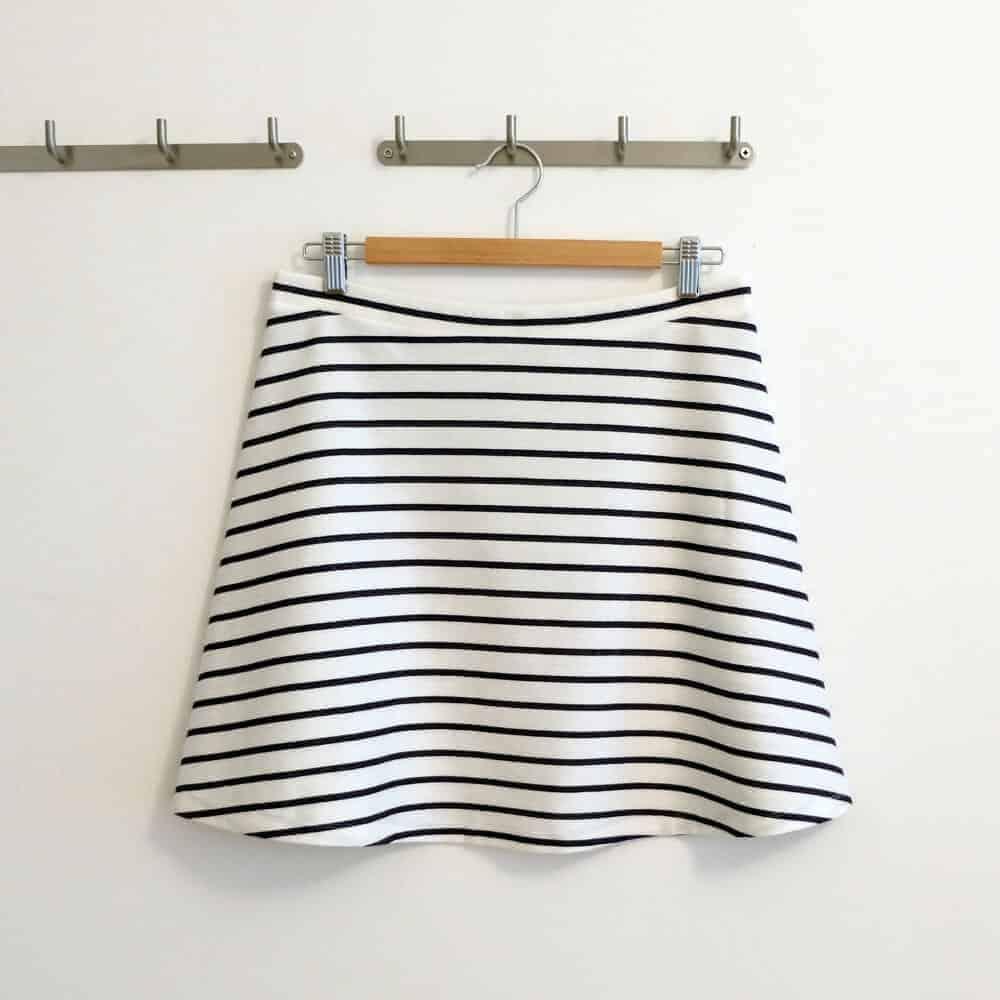 Nähanleitung einfacher Jerseyrock für Damen | Schnittmuster Gr. 34 – 48