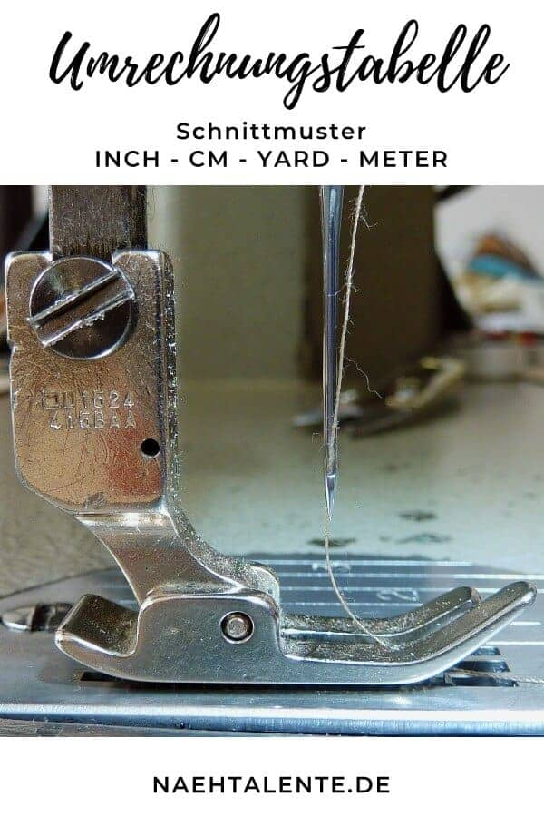 Die große Umrechnungstabelle zum Nähen - Inch - cm - Yard - Meter #nähen #schnittmuster #gratis #nähenmachtglücklich #handmade #diy #sewinginspiration #sewing #nähanleitung #tutorial
