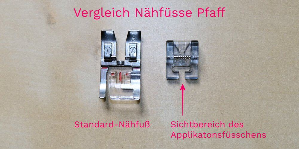 Naehfuesse Pfaff Applikation