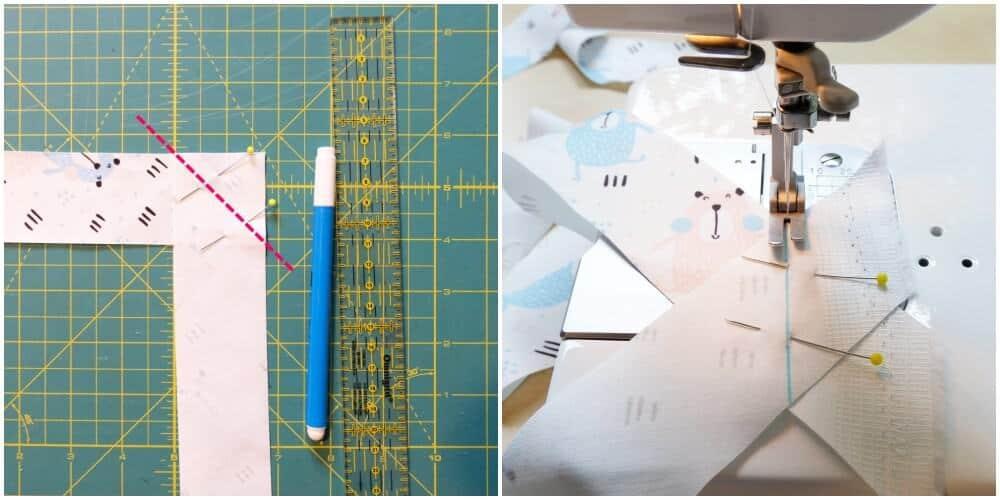 Schrägband aus Stoff selber machen