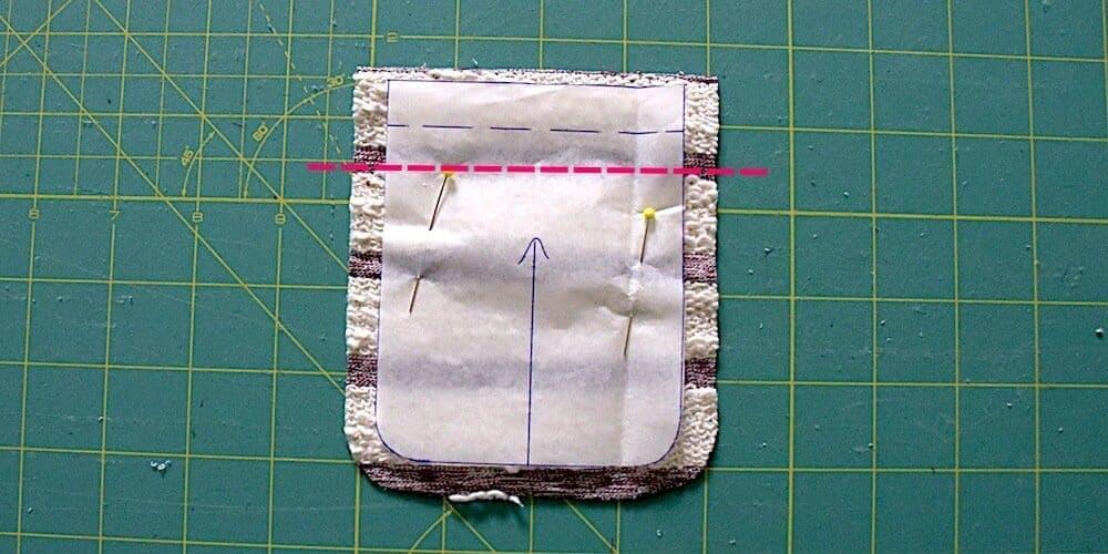 Streifenshirt nähen Brusttasche zuschneiden