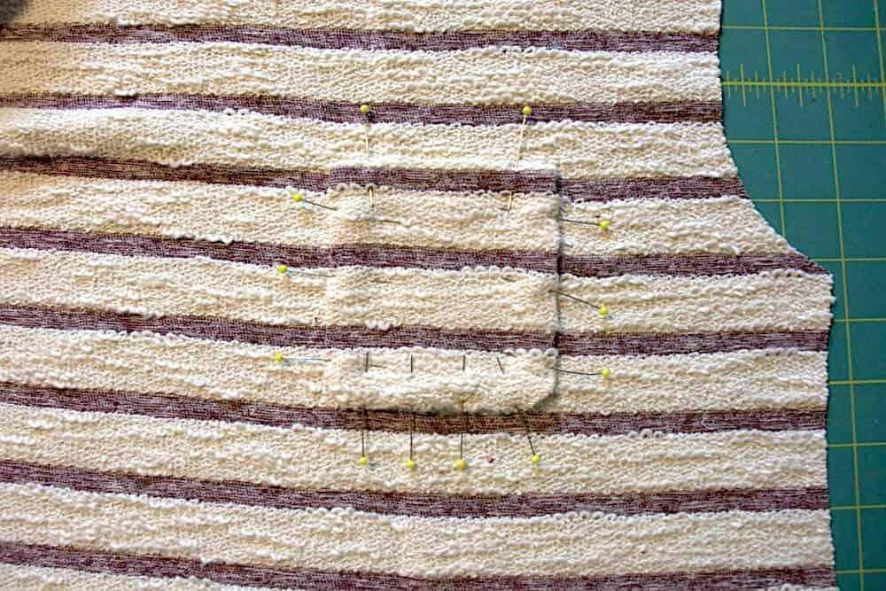 Streifenshirt nähen Tasche aufnähen