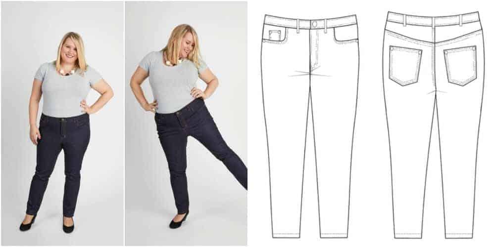 Jeans Schnittmuster für starke Frauen