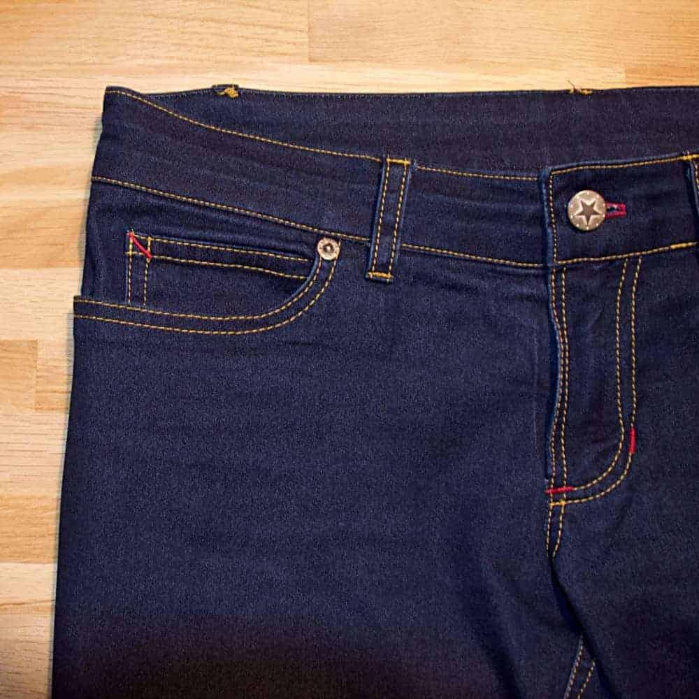 Details einer Jeans nähen