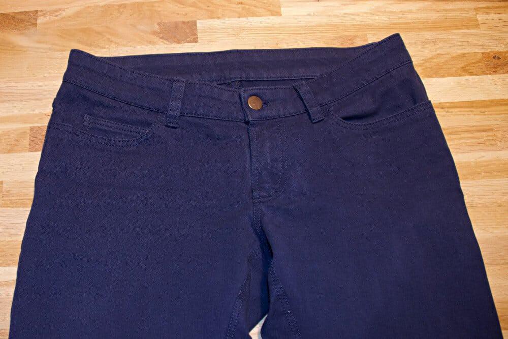 Selbst genähte Jeans von vorne