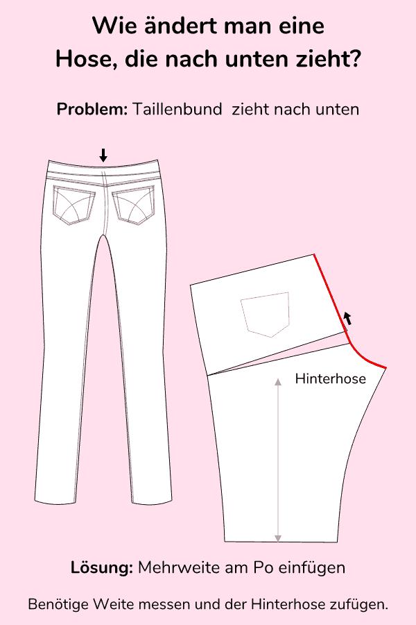Hose ändern wenn die Taille nach unten zieht