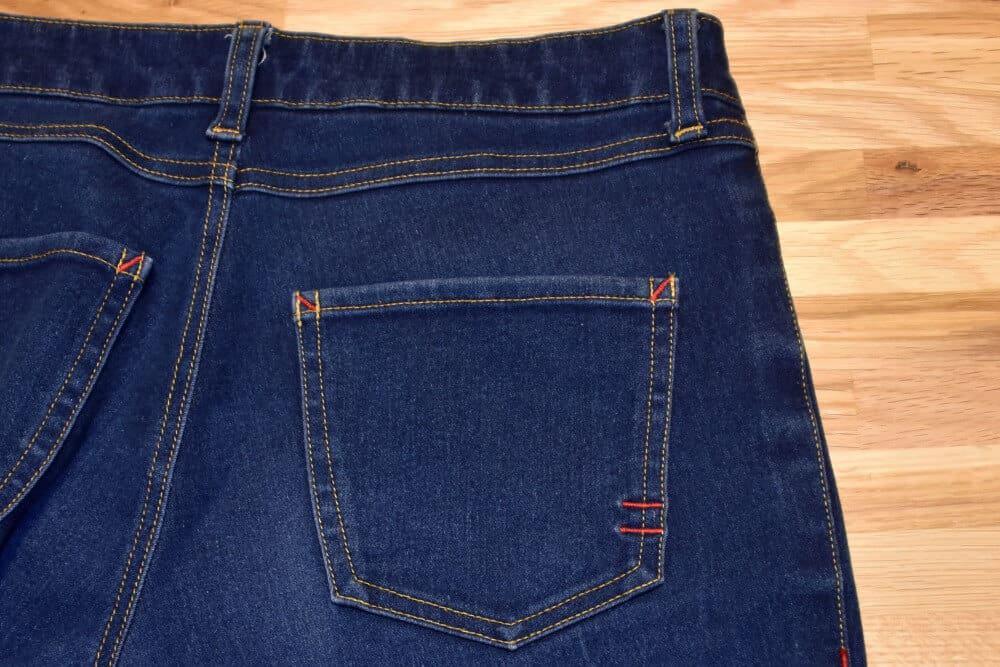 Gesäßtasche einer Jeans