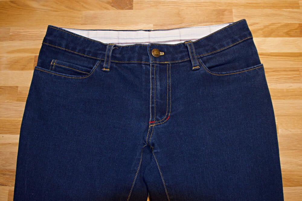 Reißverschluss einer Jeans selber nähen