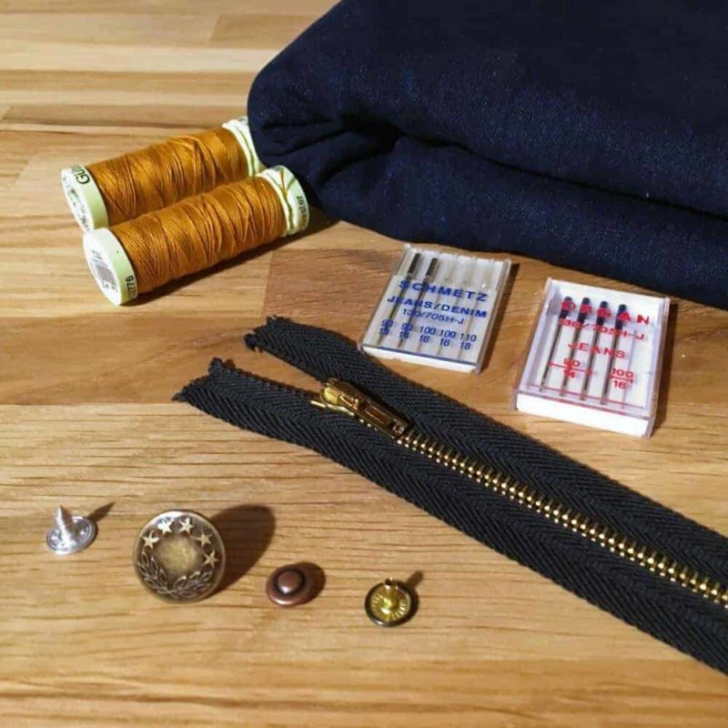 Jeans nähen Teil 3: Stoffe und Material | Jeans Sew Along