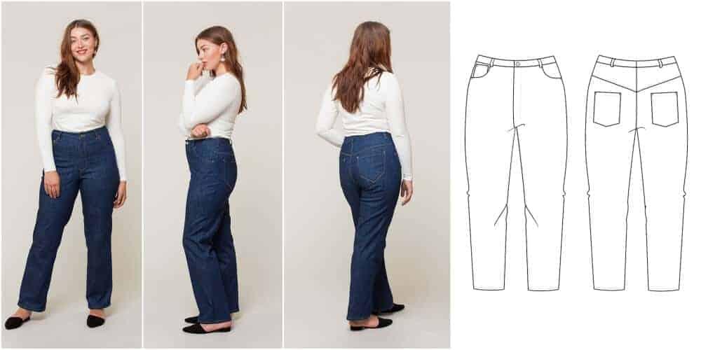 Jeans Schnittmuster für Große Größen