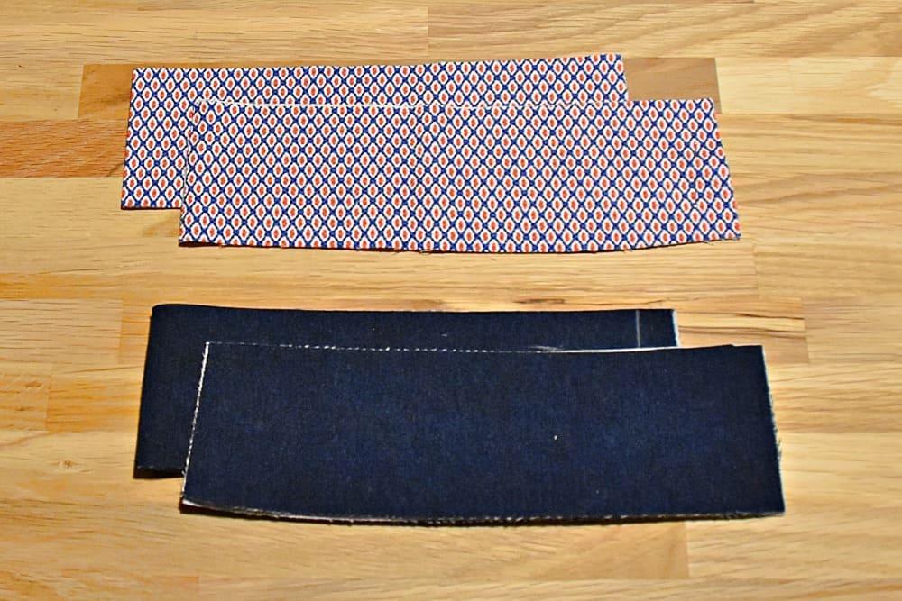 Zugeschnittener Bund für die Jeans oder Hose