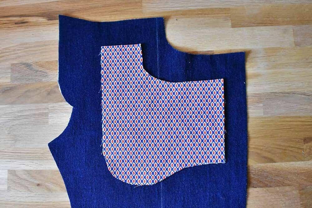 Vordere Taschen einer Jeans nähen