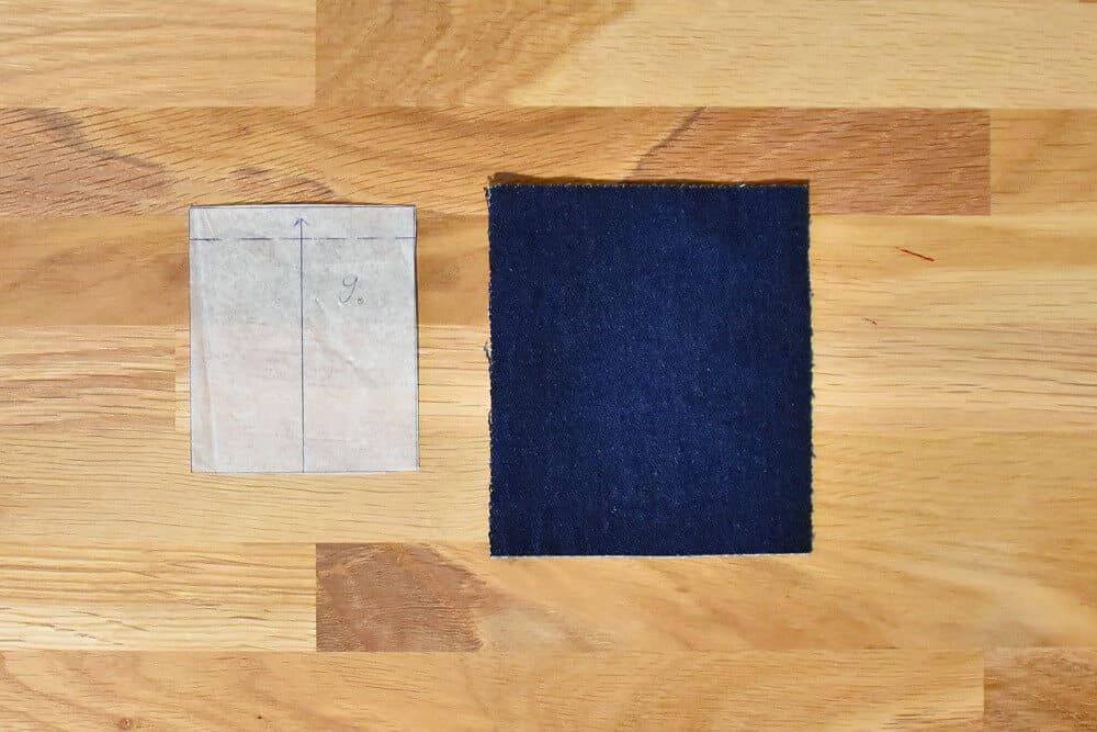 Münztasche für eine Jeans nähen