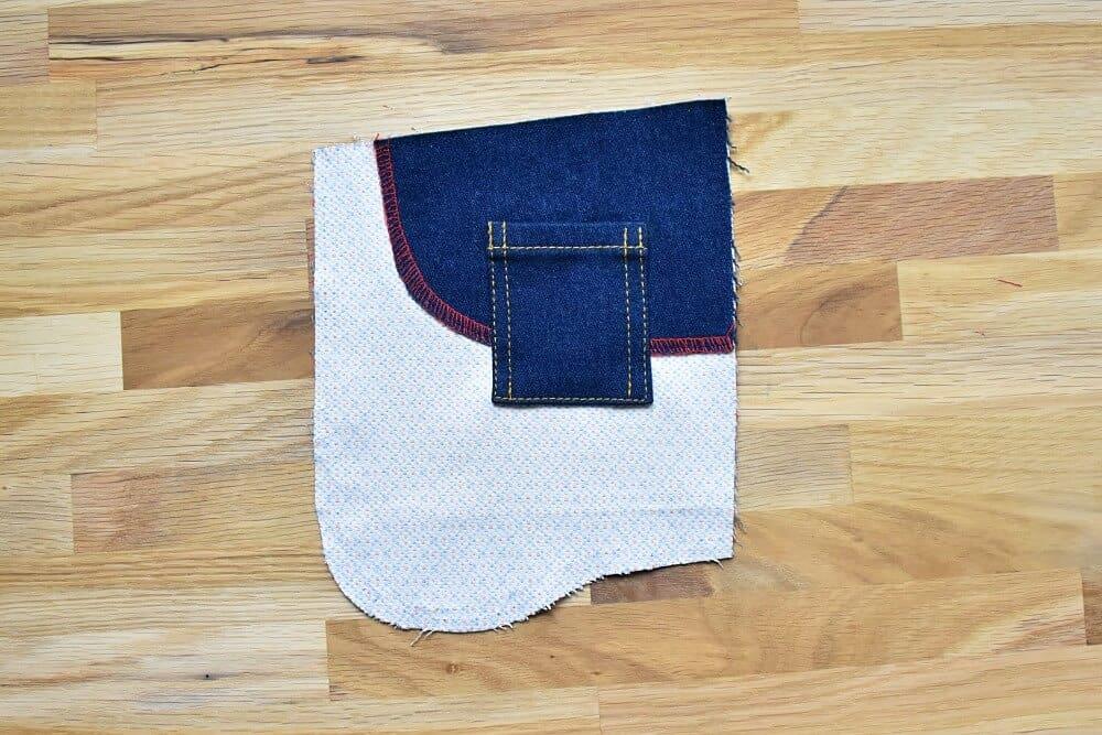 Münztasche für Jeans auf Taschenbeutel nähen