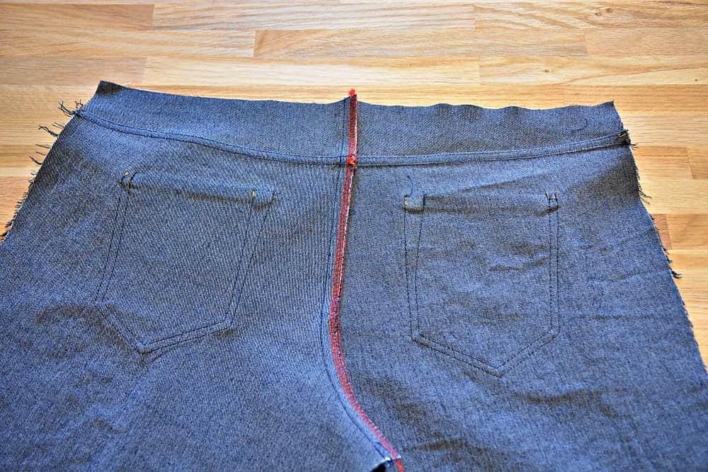 falsche Kappnaht bei einer Jeans