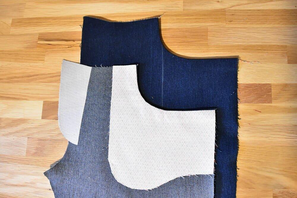 Taschenbeutel nach innen bügeln