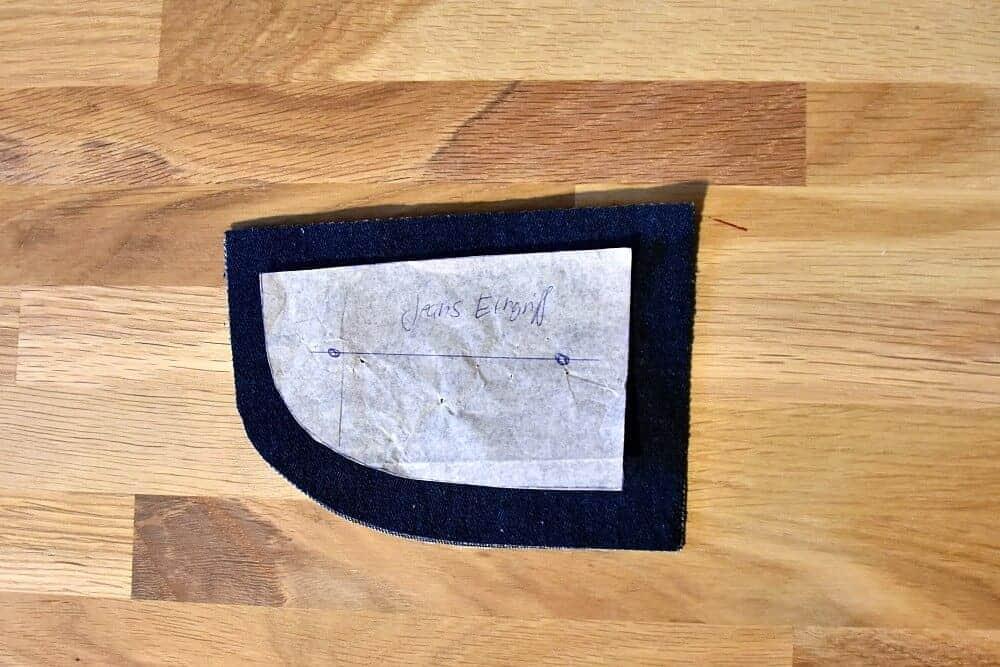 Beleg für Tasche einer Hose nähen