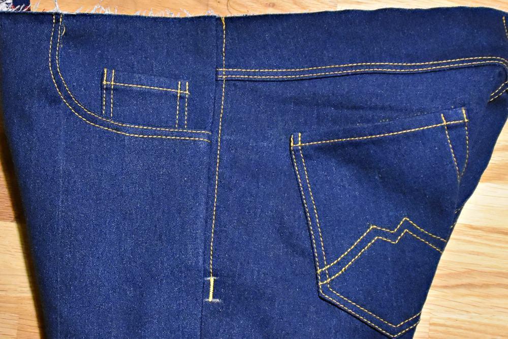 Raupennaht am Nahtende Jeans selber nähen