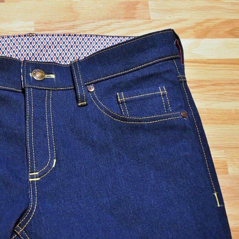 Jeans Vorderteil Taschen Nähen