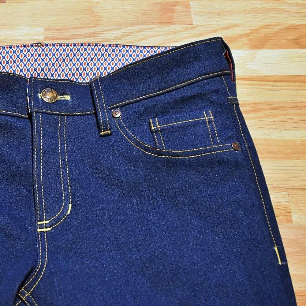 Jeans nähen Teil 7: Vordere Taschen der Jeans nähen