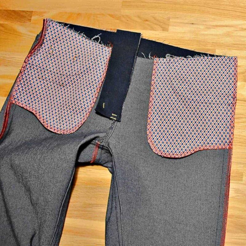 Seitennähte und Kappnaht einer Jeans nähen mit der Nähmaschine