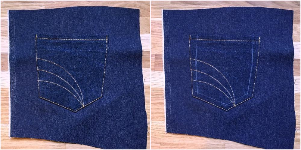 Nahtlinien vorzeichnen für Taschen