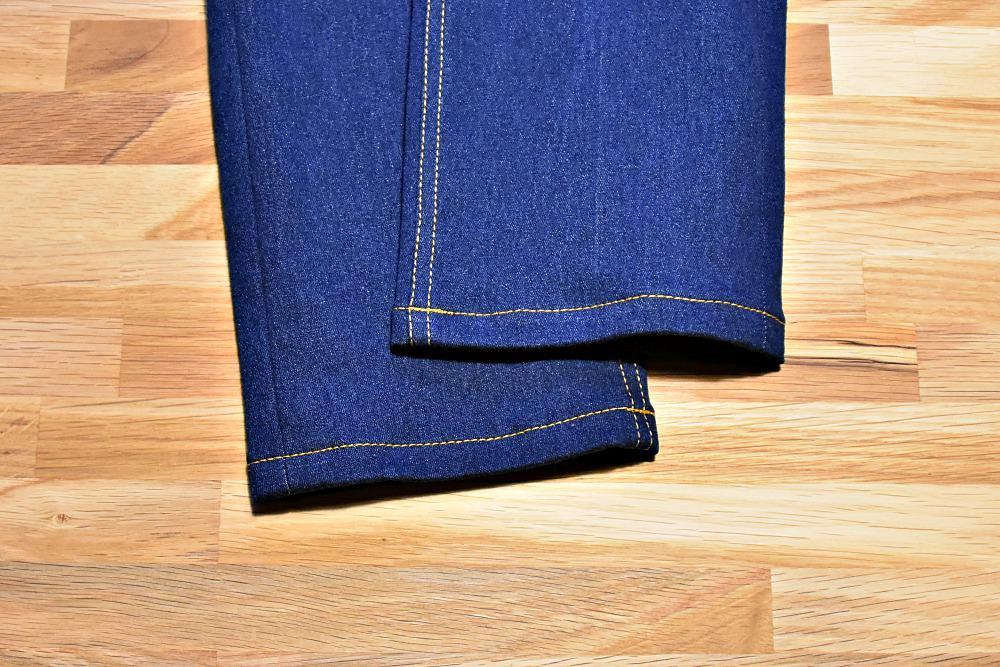 Saum einer Jeans nähen