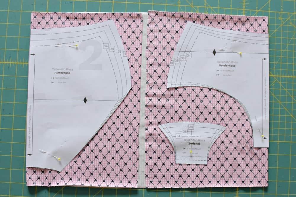Zuschneiden Taillenslip aus Jersey oder elastischer Spitze
