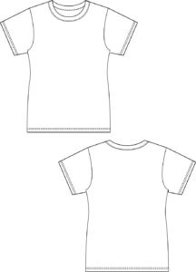 Basic T-Shirt kurzarm Damen