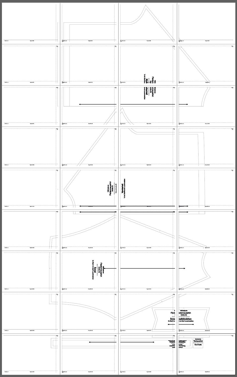 Fledermausshirt Schnitt PDF Groesse 52