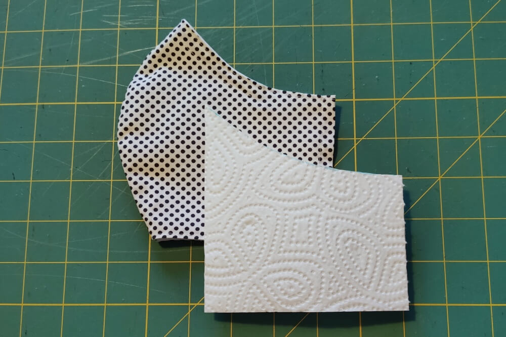 Schnittmuster Filter Atemschutzmaske