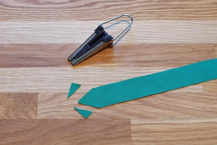 Ecken abschrägen für das Schrägband zum selbermachen
