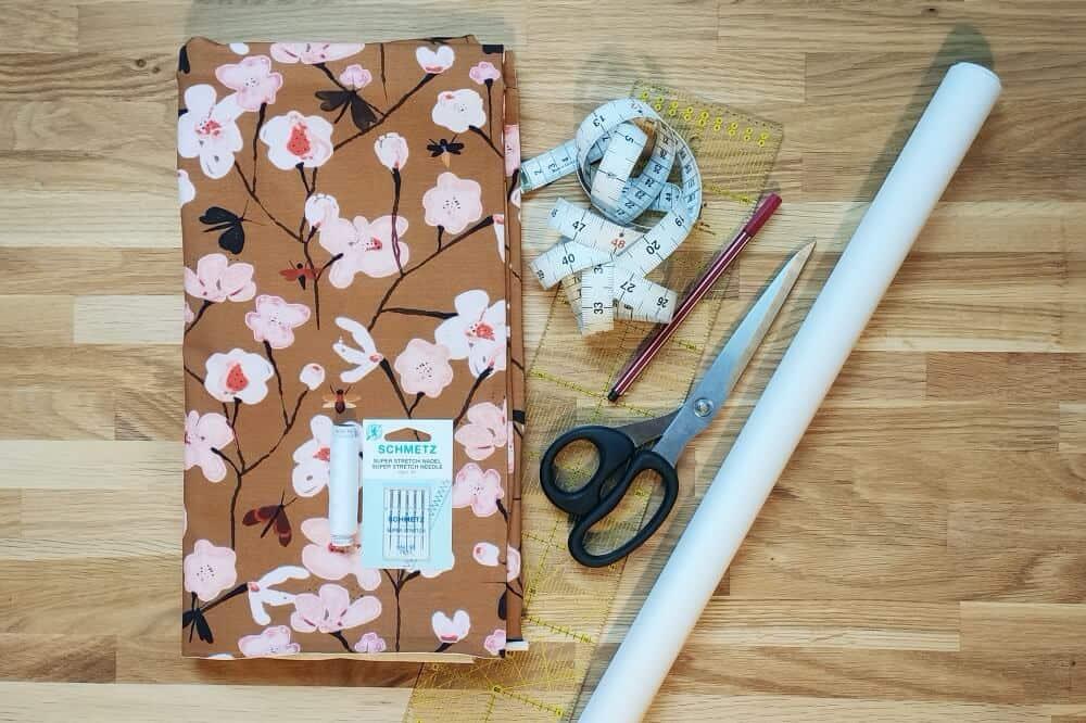 Material Kimono Tee naehen