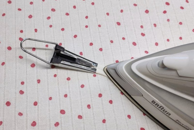 Schrägband bügeln