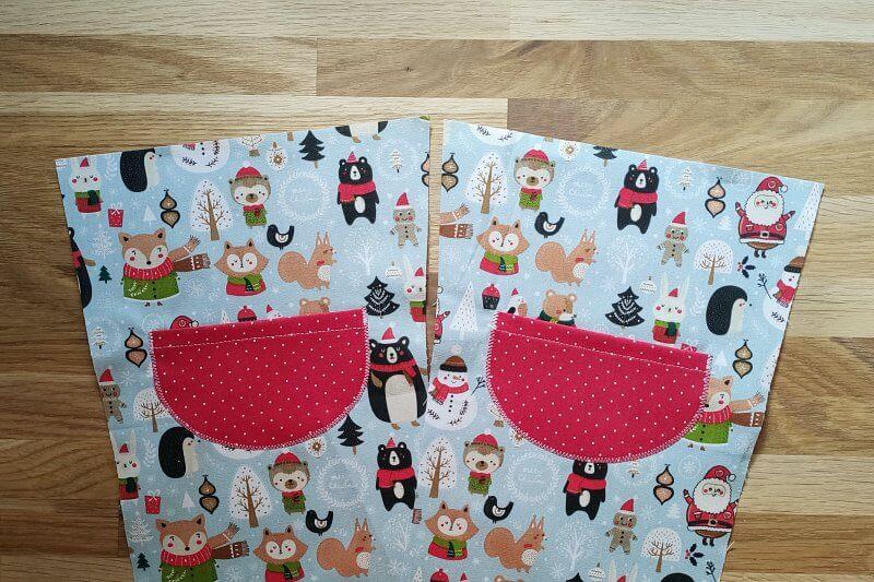 aufgenaehte Tasche Nikolaussocke