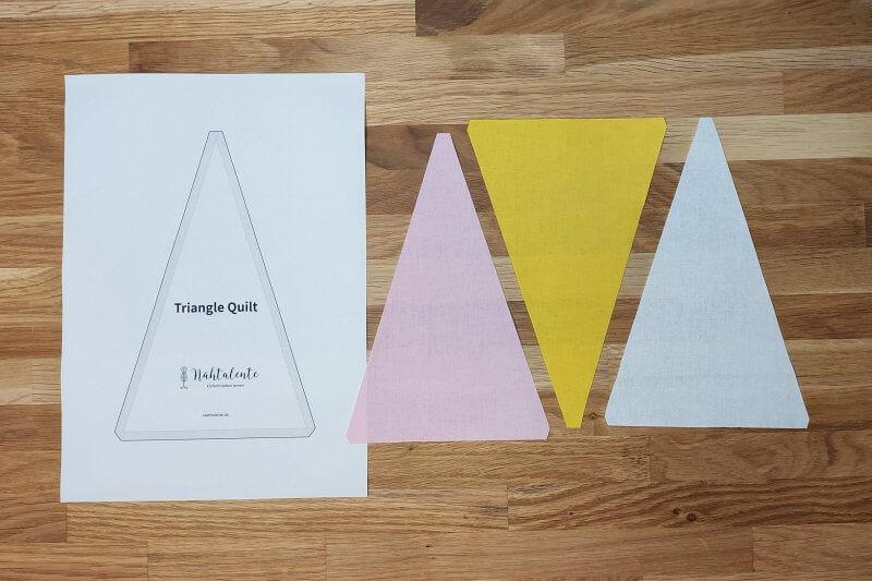 zuschneiden Triangle Quilt Schnittmuster