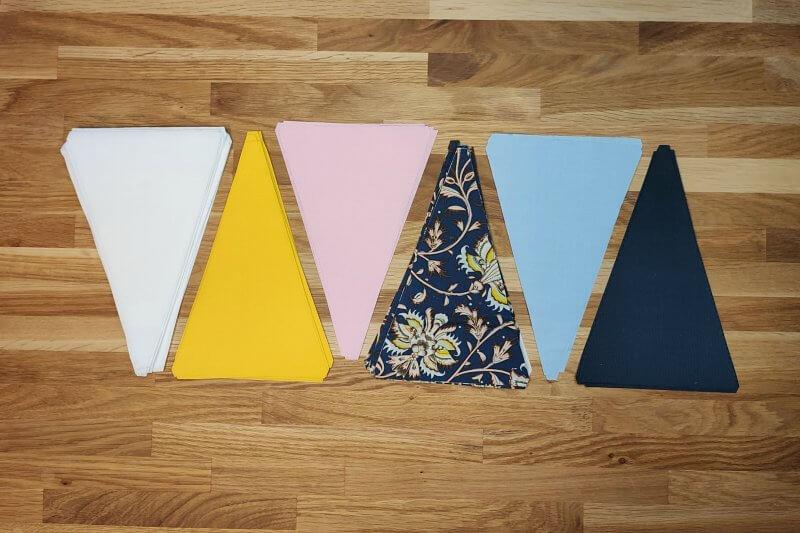 Dreiecke zuschneiden Triangel Quilt