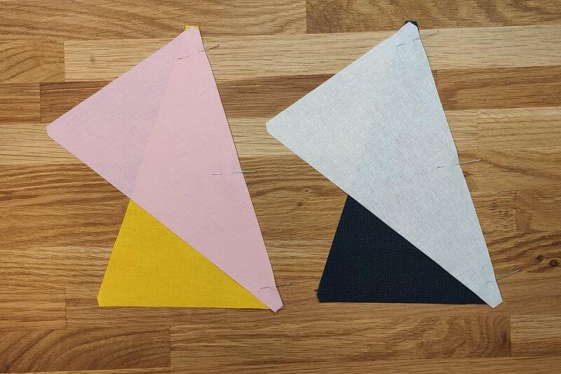 mehrere Dreiecke stecken