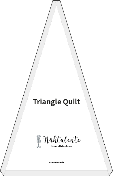 Triangle Quilt Schnittmuster