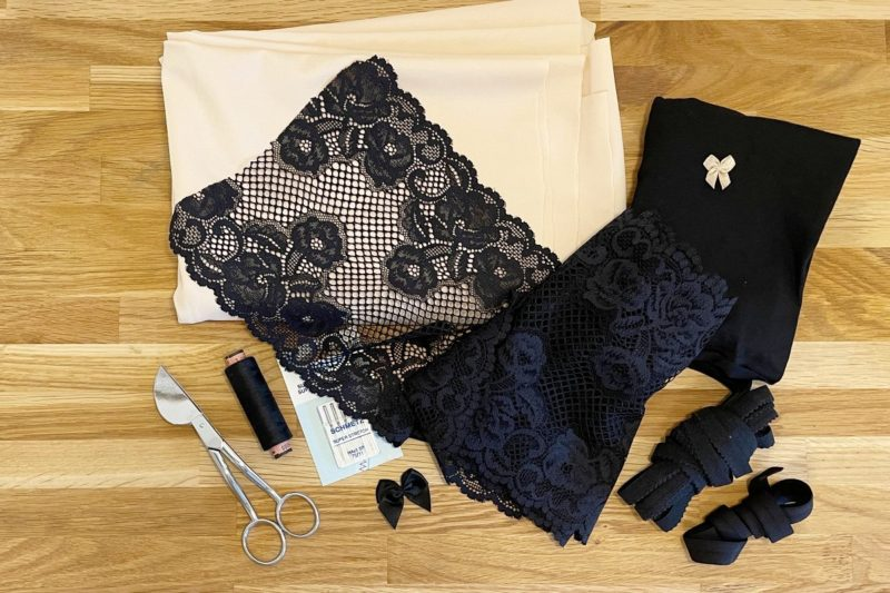 Material Panty mit Spitze nähen
