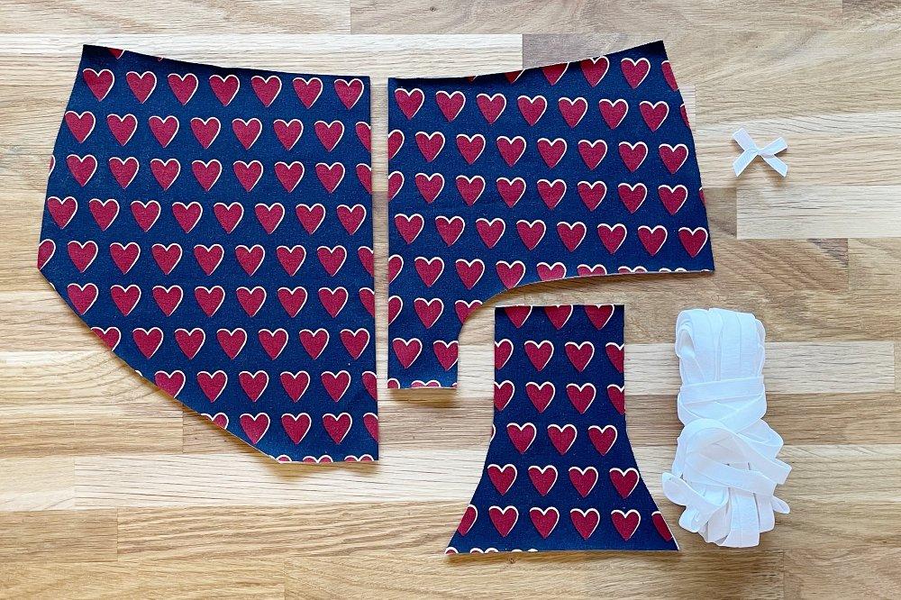 Schnittteile für Damen Panties
