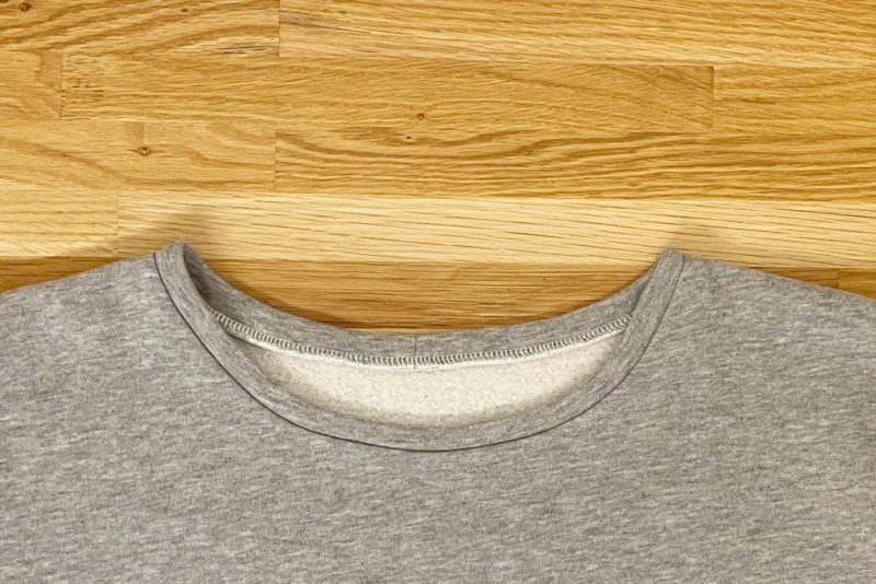 Nahtzugabe Halsbbündchen nach dem Nähen bügeln
