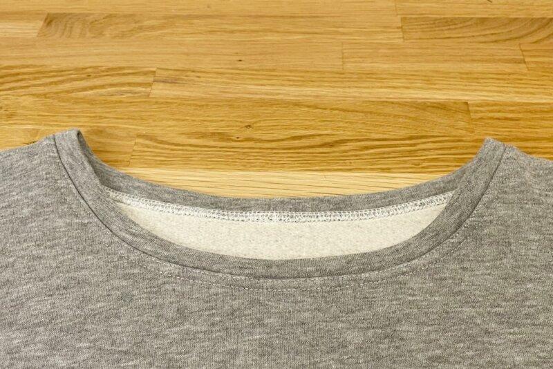 Sweatshirt Halsbündchen absteppen
