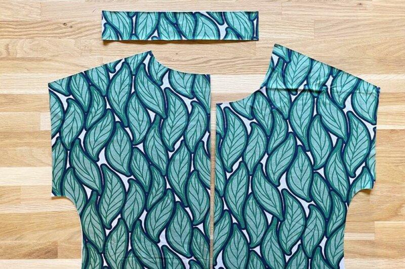 Jersey-Stoff zuschneiden für Jerseykleid und Shirt